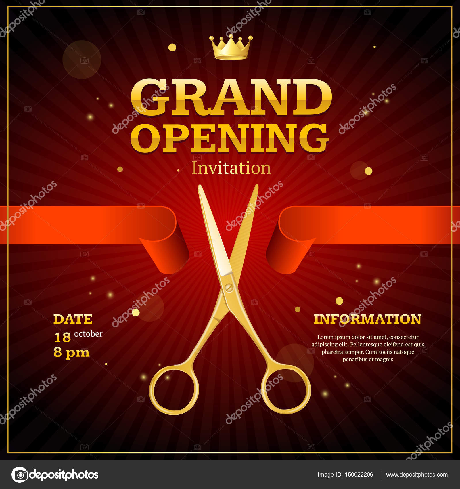 Grand opening invitation card vector stock vector mousemd grand opening invitation card vector stock vector stopboris Image collections