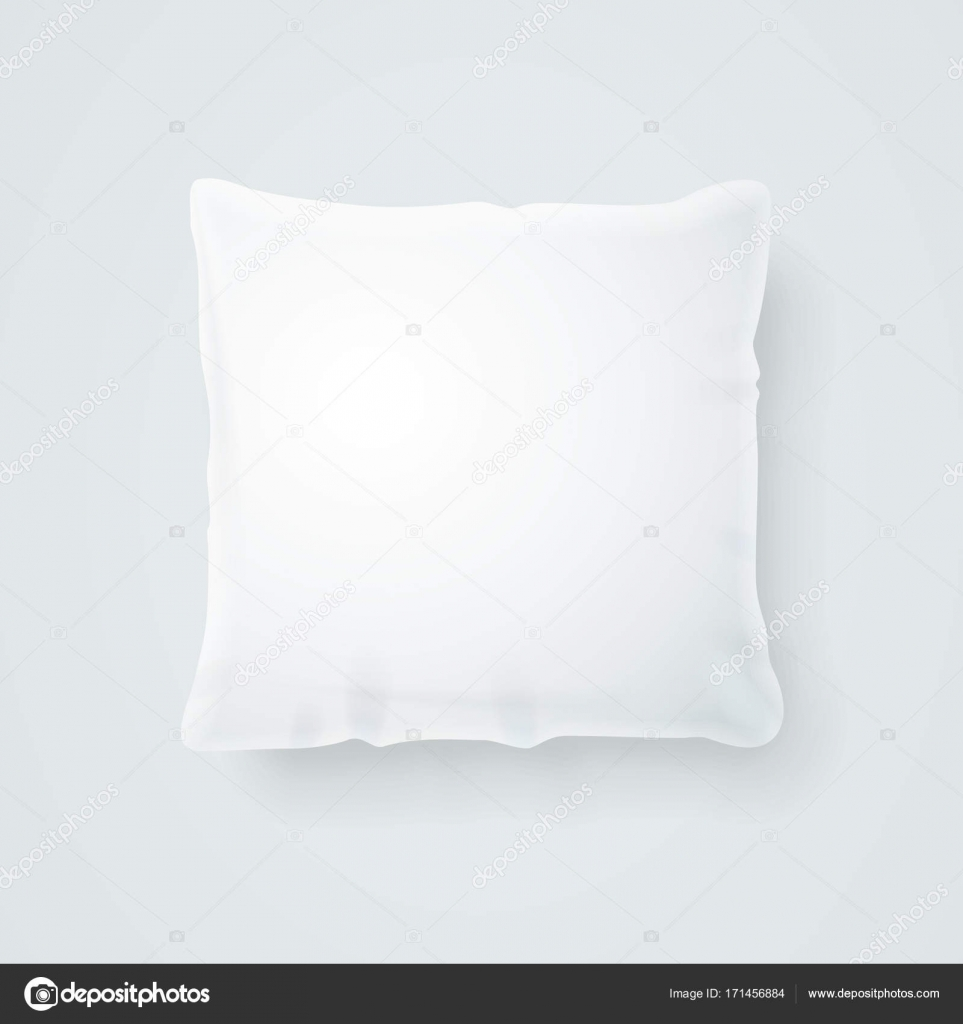 realistic detailed 3d template blank white pillow mock up vector