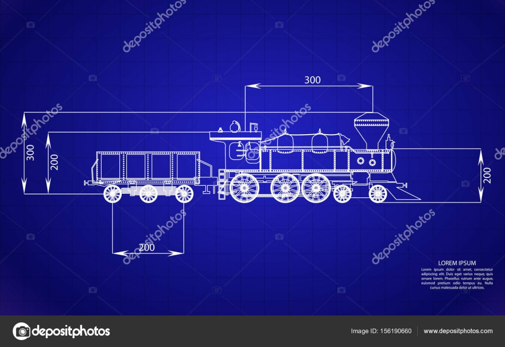 Railroad blueprints on blue background stock vector mertsalovvw on blue background railroad blueprints isolated object gears vector by mertsalovvw malvernweather Gallery