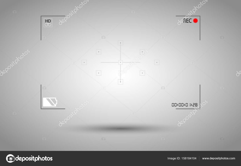 on background modern digital video camera focusing screen isolated ...
