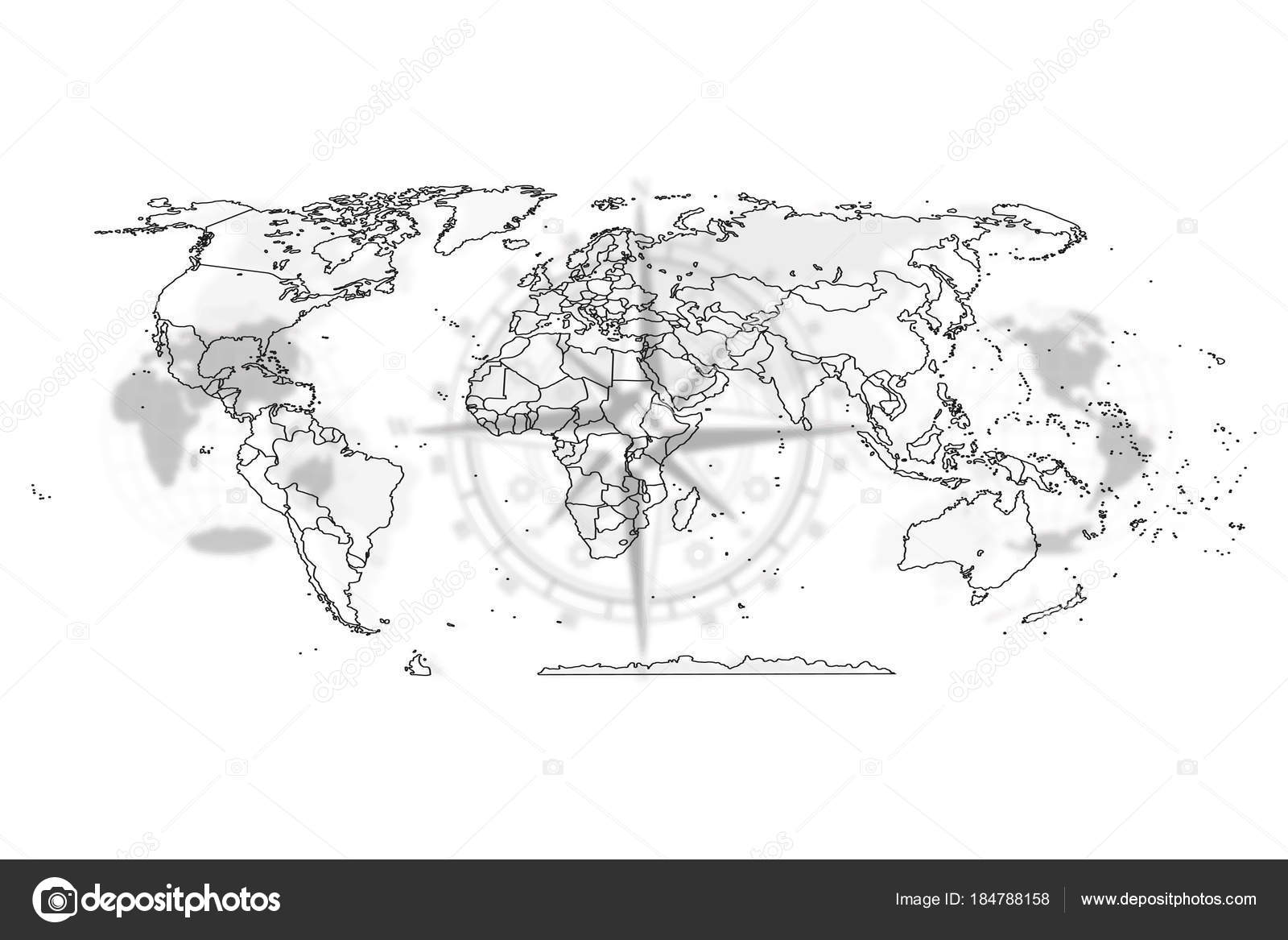 Map political abstract of the world stock vector mertsalovvw map political abstract of the world stock vector gumiabroncs Image collections