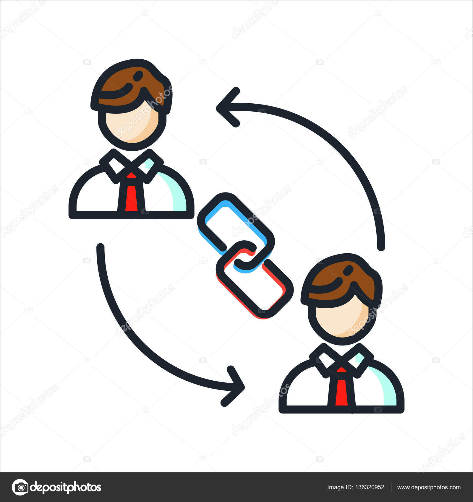 personal connection icon vector mieux snapchat entreprendre avec indomercy2012 depositphotos