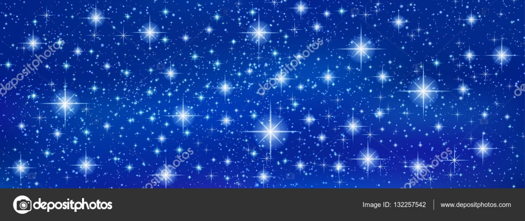 banner background with sparkling twinkling stars cosmic shiny galaxy holiday blank backdrop texture of night sky for christmas xmas happy new year