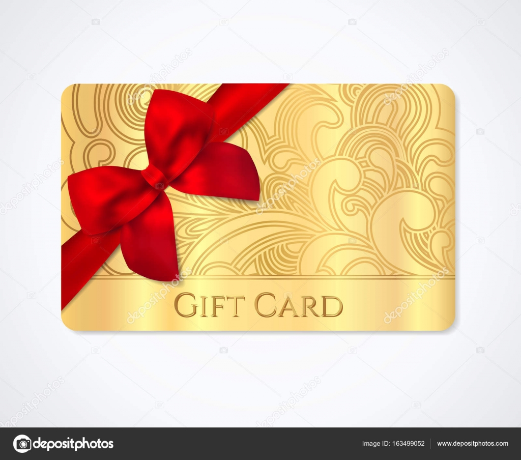 Gift coupon, gift card (discount card, business card) with floral ...
