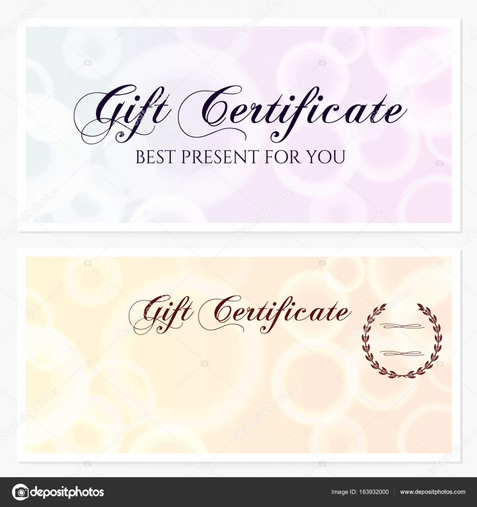 Gift Certificate Voucher Coupon Invitation Or Gift Card Template