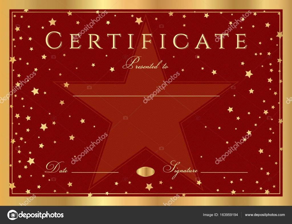 Zertifikat, Abschlusszeugnis (abstrakte Design-Vorlage, roter ...