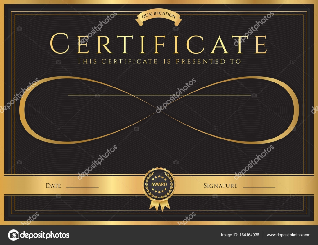 Certificate, Diploma of completion (abstract design template) with ...