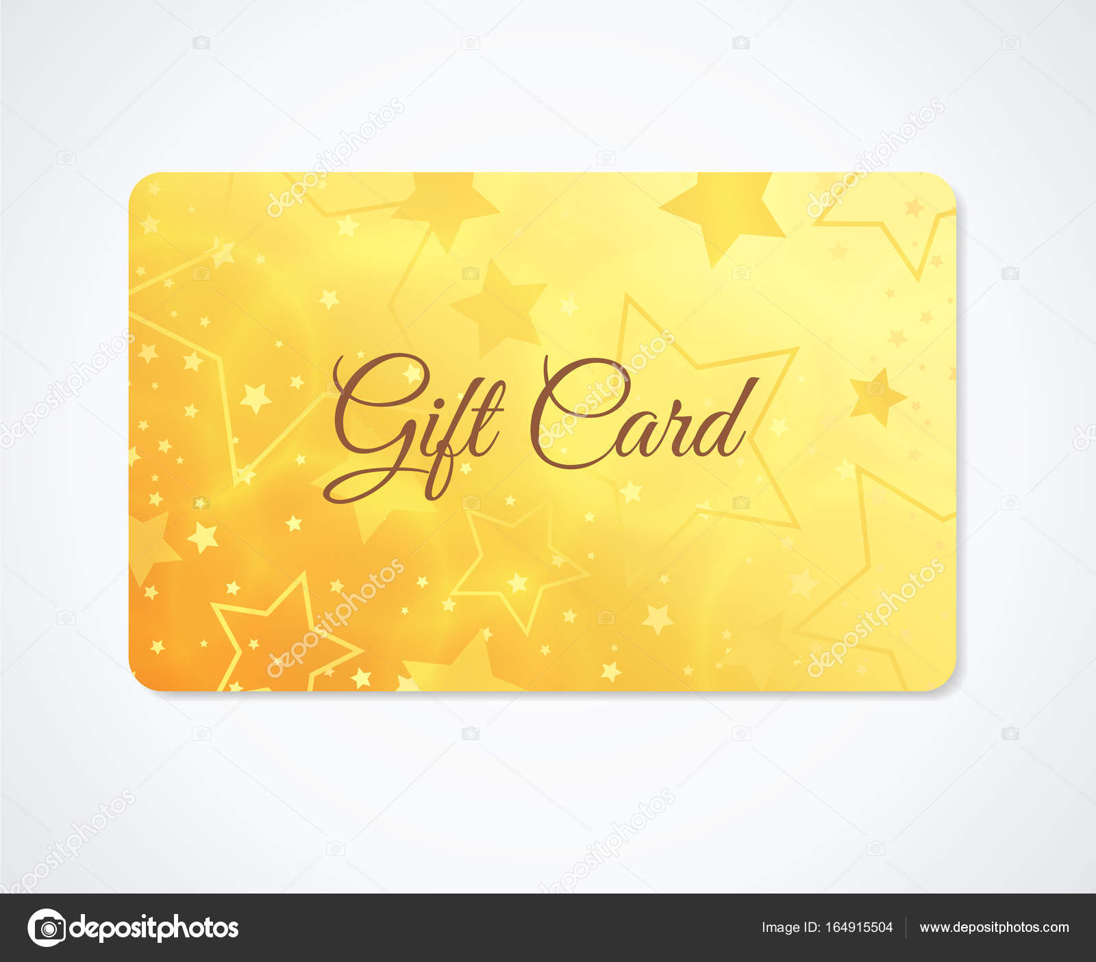 Gift card Gift coupon discount business card withsparkling