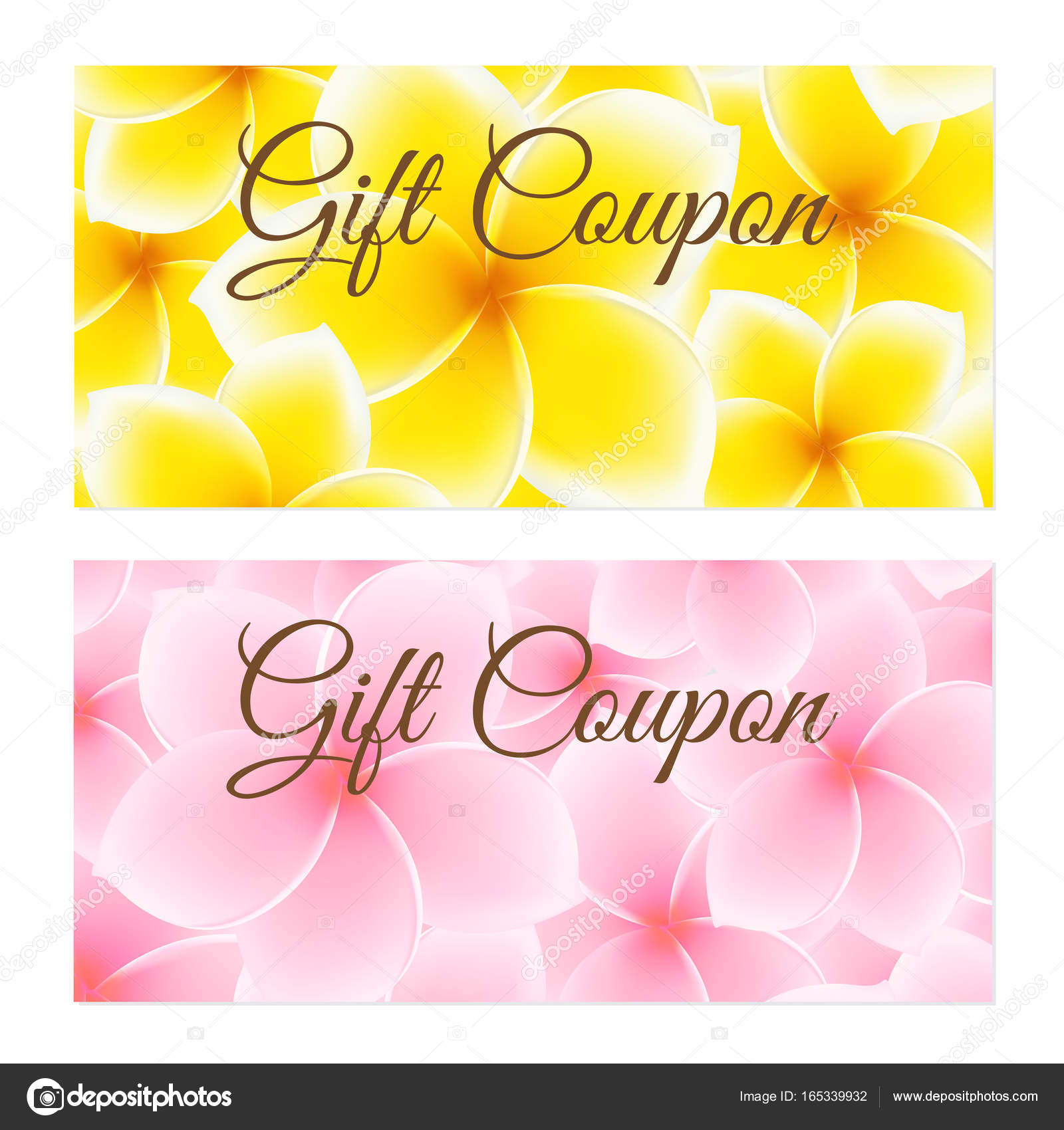 gift coupon gift certificate voucher invitation or discount template with with flower