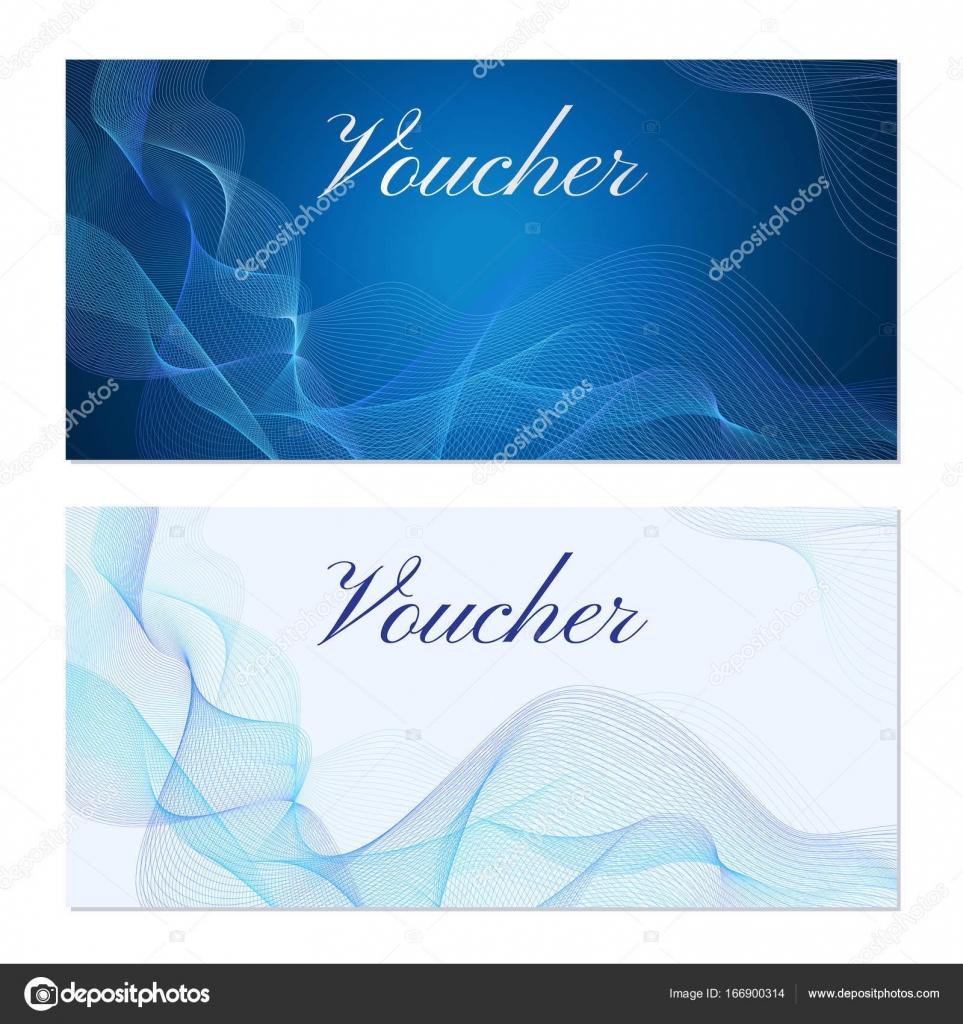 Printvoucher, Geschenkgutschein, Gutschein Vorlage. Guilloche-Muster ...