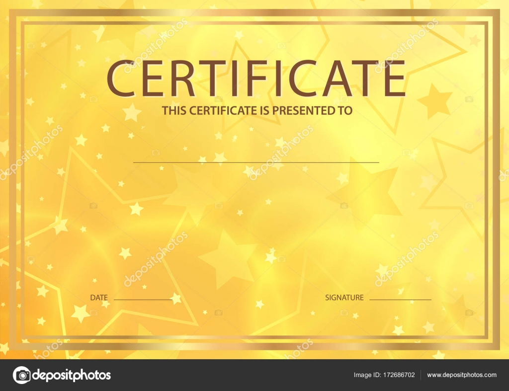 Certificate diploma of completion template abstract design certificate diploma of completion template abstract design template gold background with stars alramifo Image collections