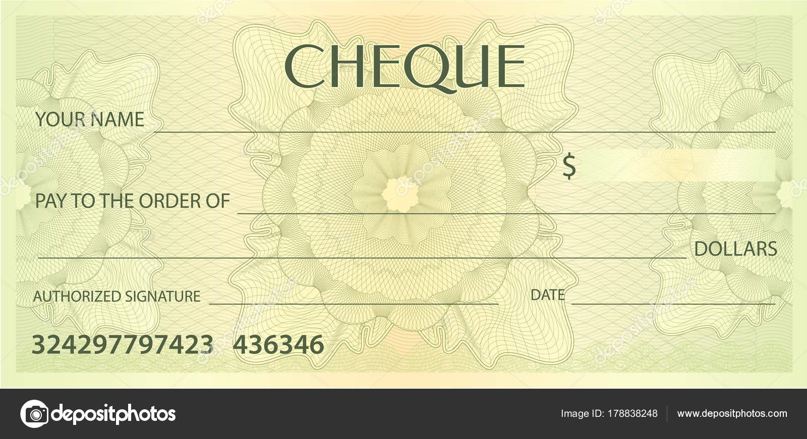 Cheque Book Cover Pattern : Funny cheque template gallery design ideas