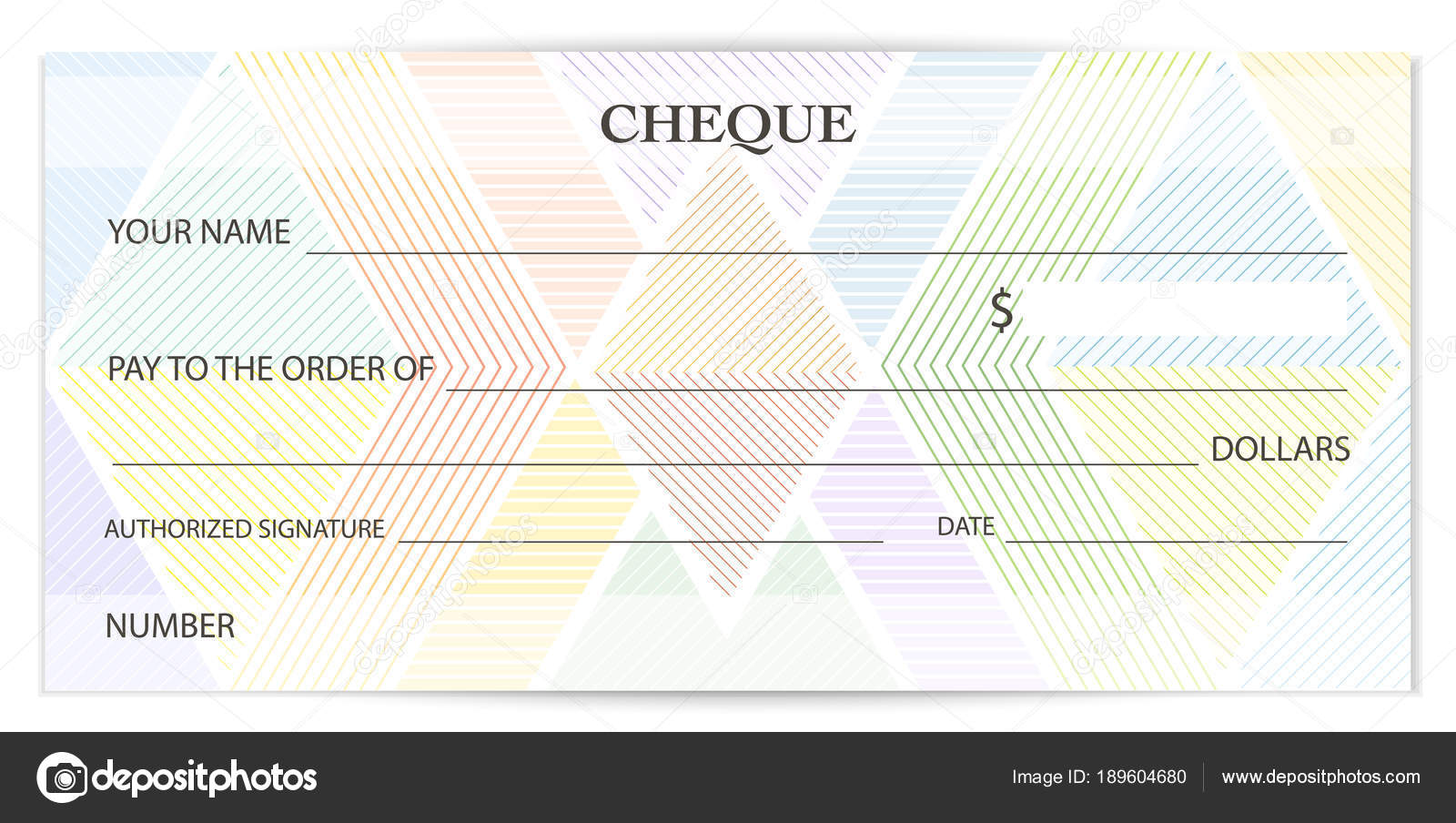 check cheque chequebook template guilloche pattern abstract
