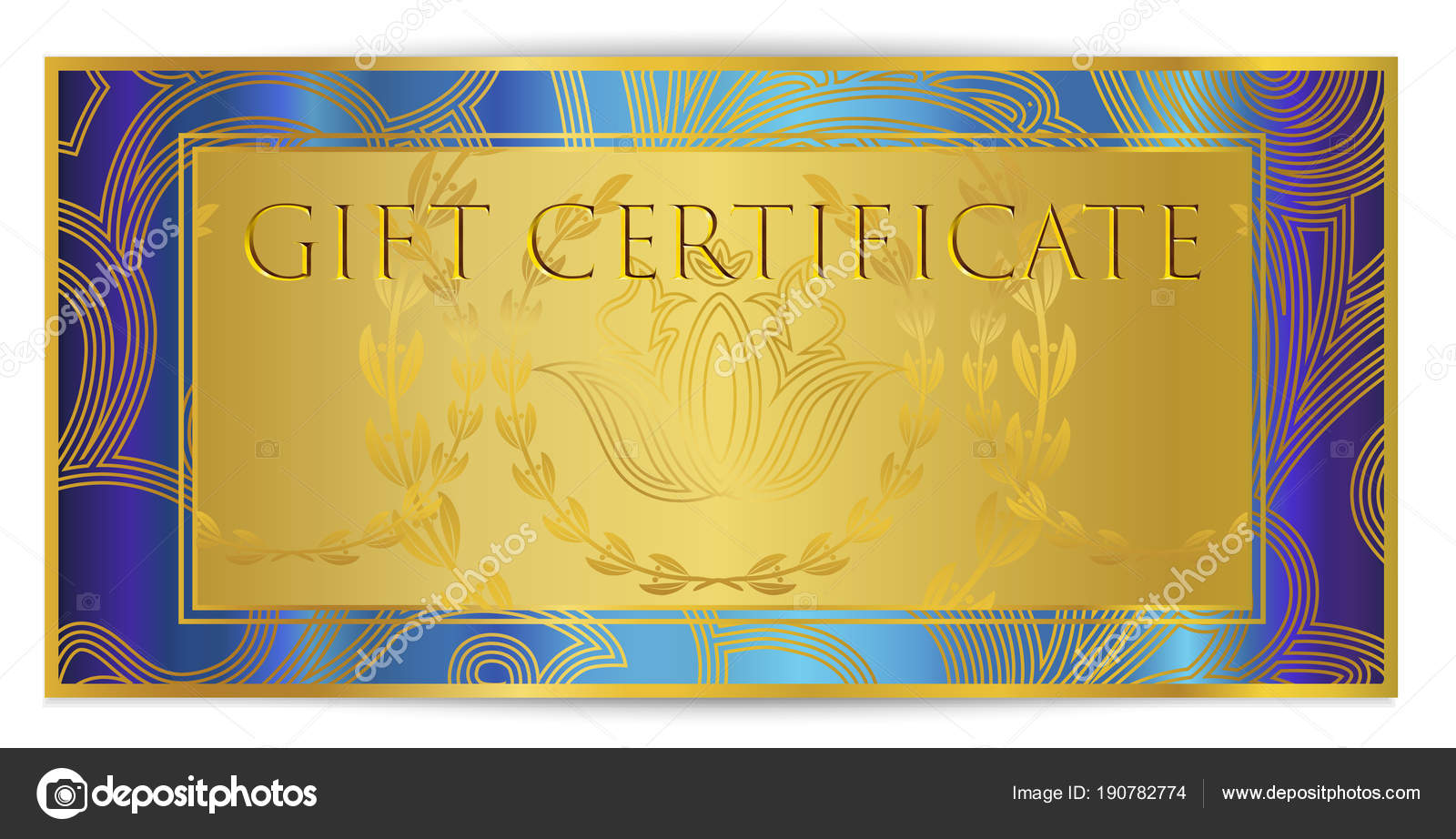 Gift Certificate Voucher Coupon Template Royal Background Design