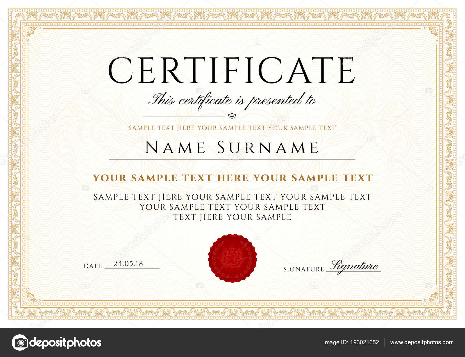 certificate diploma completion design template white background