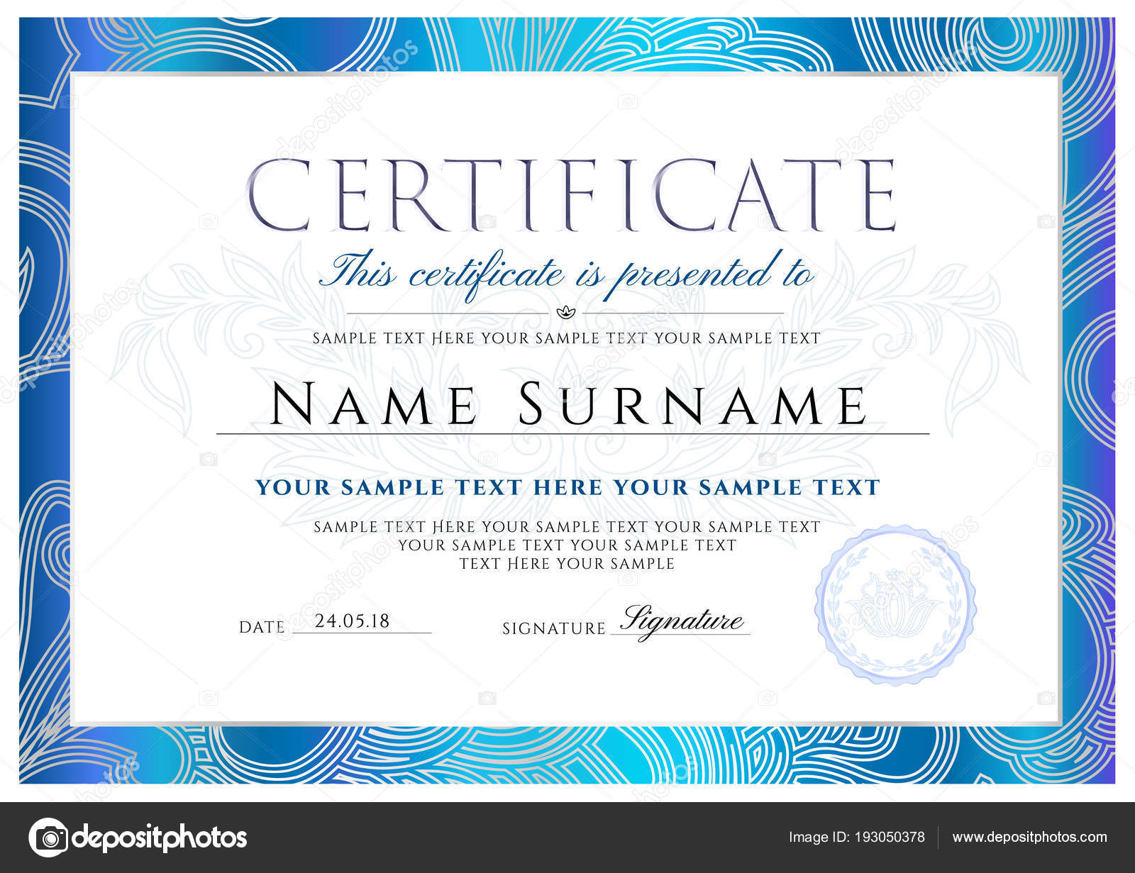 high school diploma certificate fancy design templates - certificate diploma completion design template white