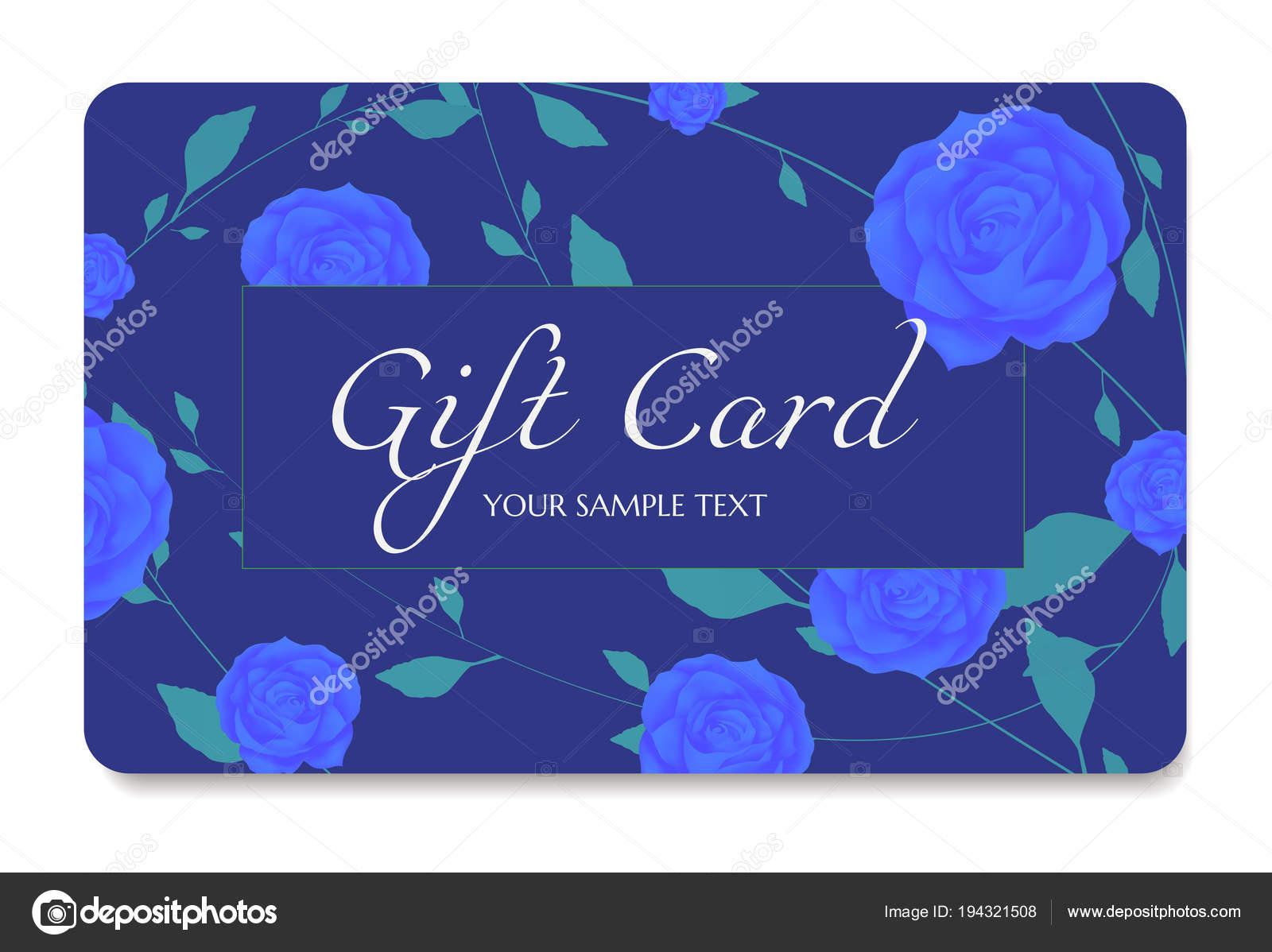 Geschenkkarte Gutschein Rabatt Karte Geschenk Gutschein Mit Blumen ...