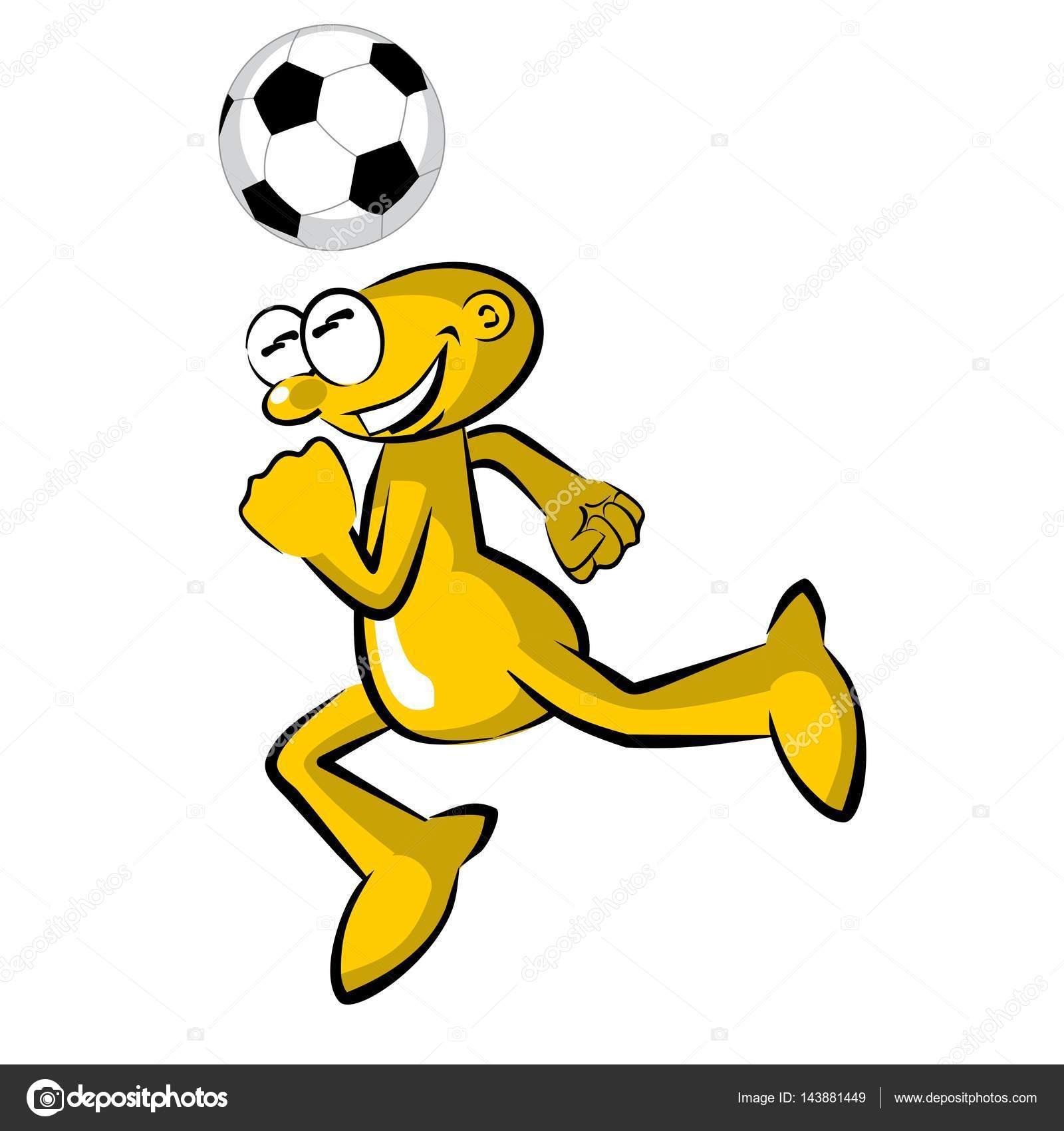 Joueur De Football Drole Pratiquant Table De Montage Sequentiel