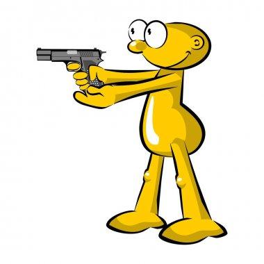 Man with a gun in his hand
