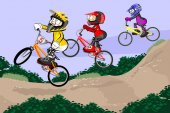 BMX jezdci soutěžit ve třídě dítě