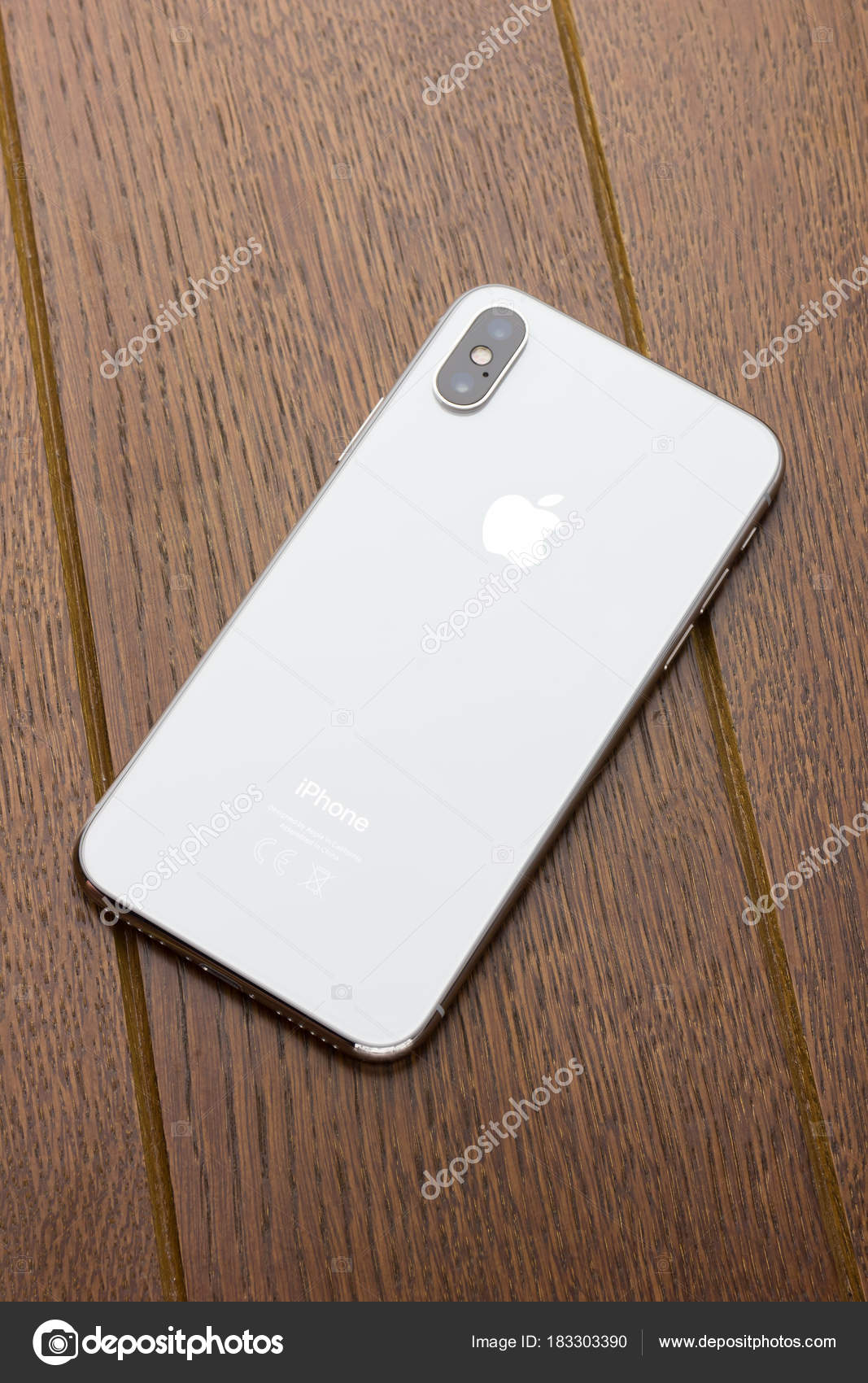 Rostov On Don Russia Feb 2018 Iphone X Lies On A Wooden Table