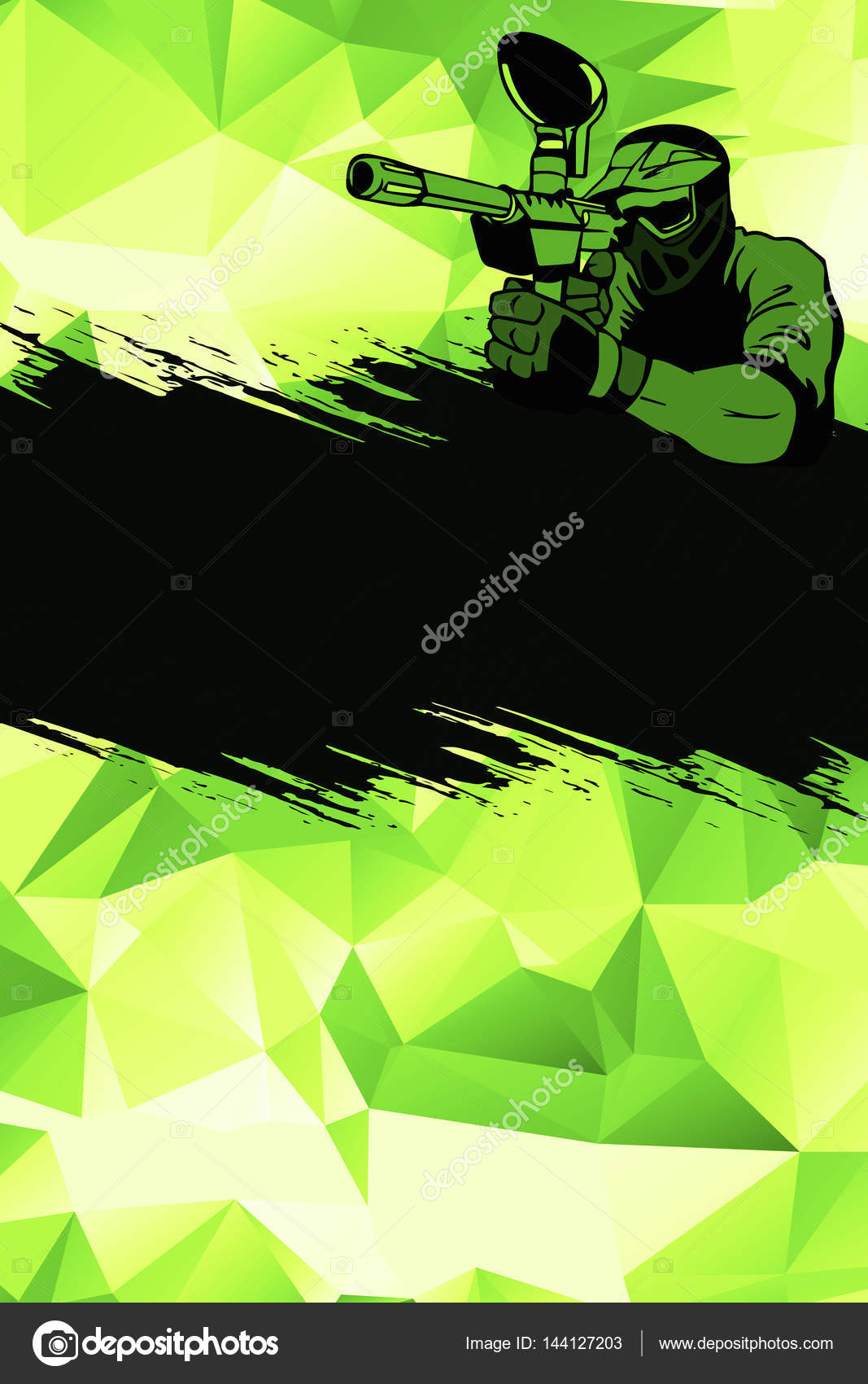 Abstract paintball or airsoft game invitation advert background with empty space — Photo by IstONE_hun