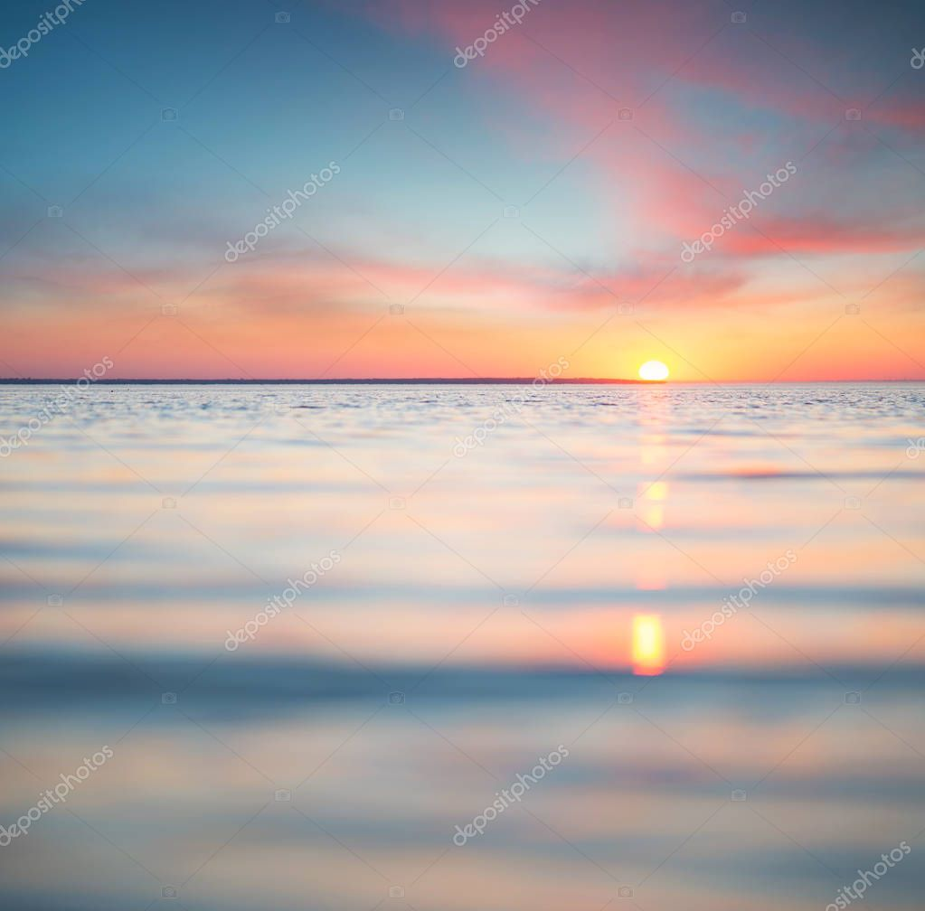 Seascape during sunrise.