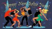 frohes neues Jahr Salsa