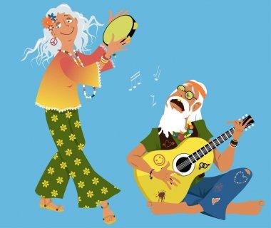 Old hippies cartoon