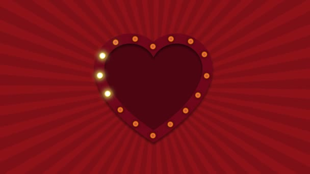 Valentines Day animation background. Template for your text or sign ...