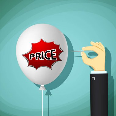 balloon with the word price.