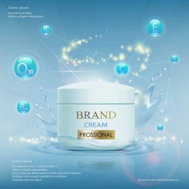 Cream with vitamins and coenzyme Q10
