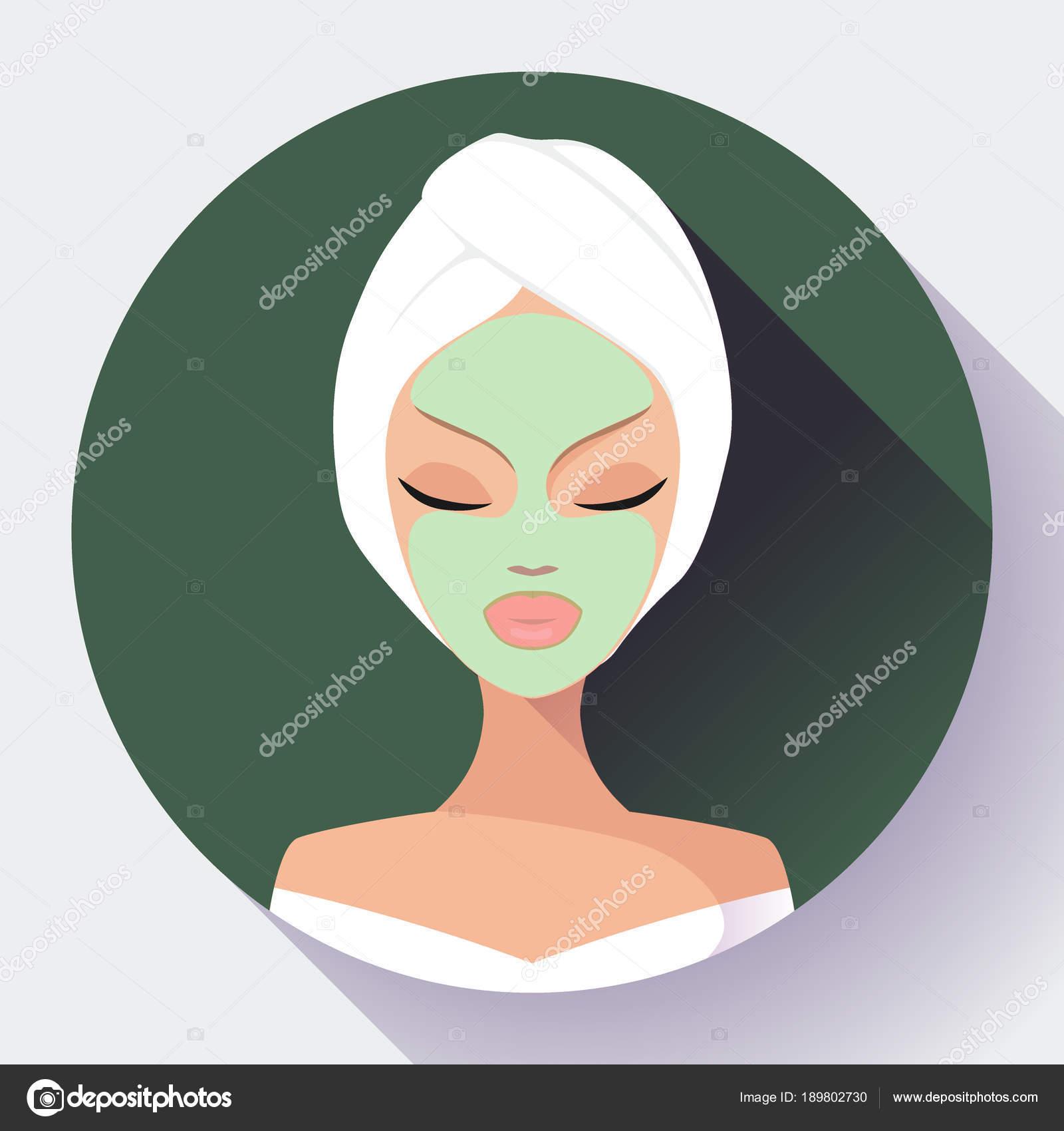 Spa mujer aplicar mascarilla de Limpieza Facial. Tratamientos de ...
