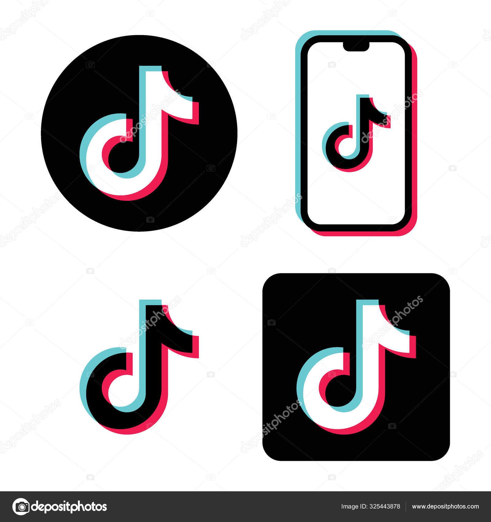 ᐈ Tik Tok Logo Stock Icon Royalty Free Tik Tok Vectors Download On Depositphotos