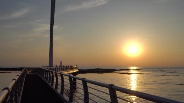 Seascape of Sinchang windmill coast