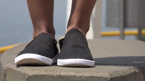 Boty a nohy ženy