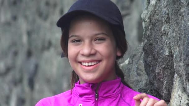 Dospívající dívka štěstí a smích