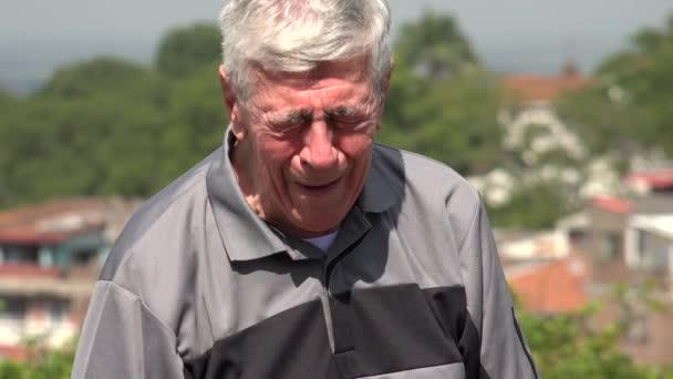 Crying Old Man Or Senior