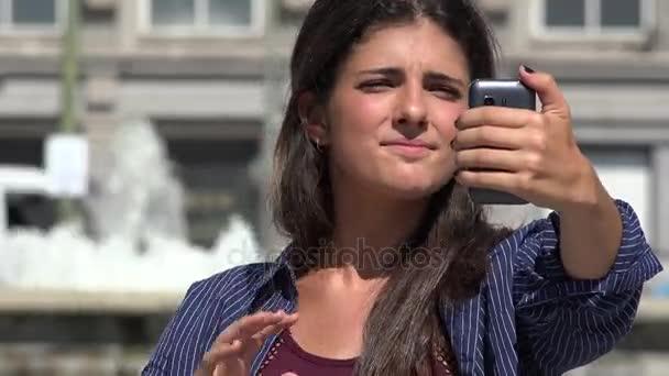 Mladá žena Selfy Foto
