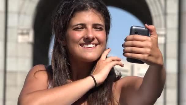 Ženské turistické cestování Selfie