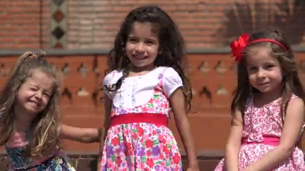 Children Laughing And Girls Having Fun