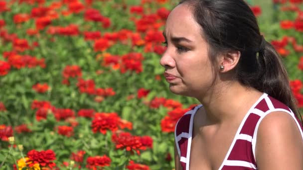 Zdůraznil, nebo zlobí žena hispánský Teen