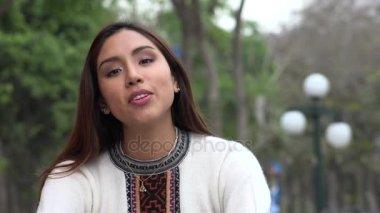 Peruvian Hispanic Woman Talking