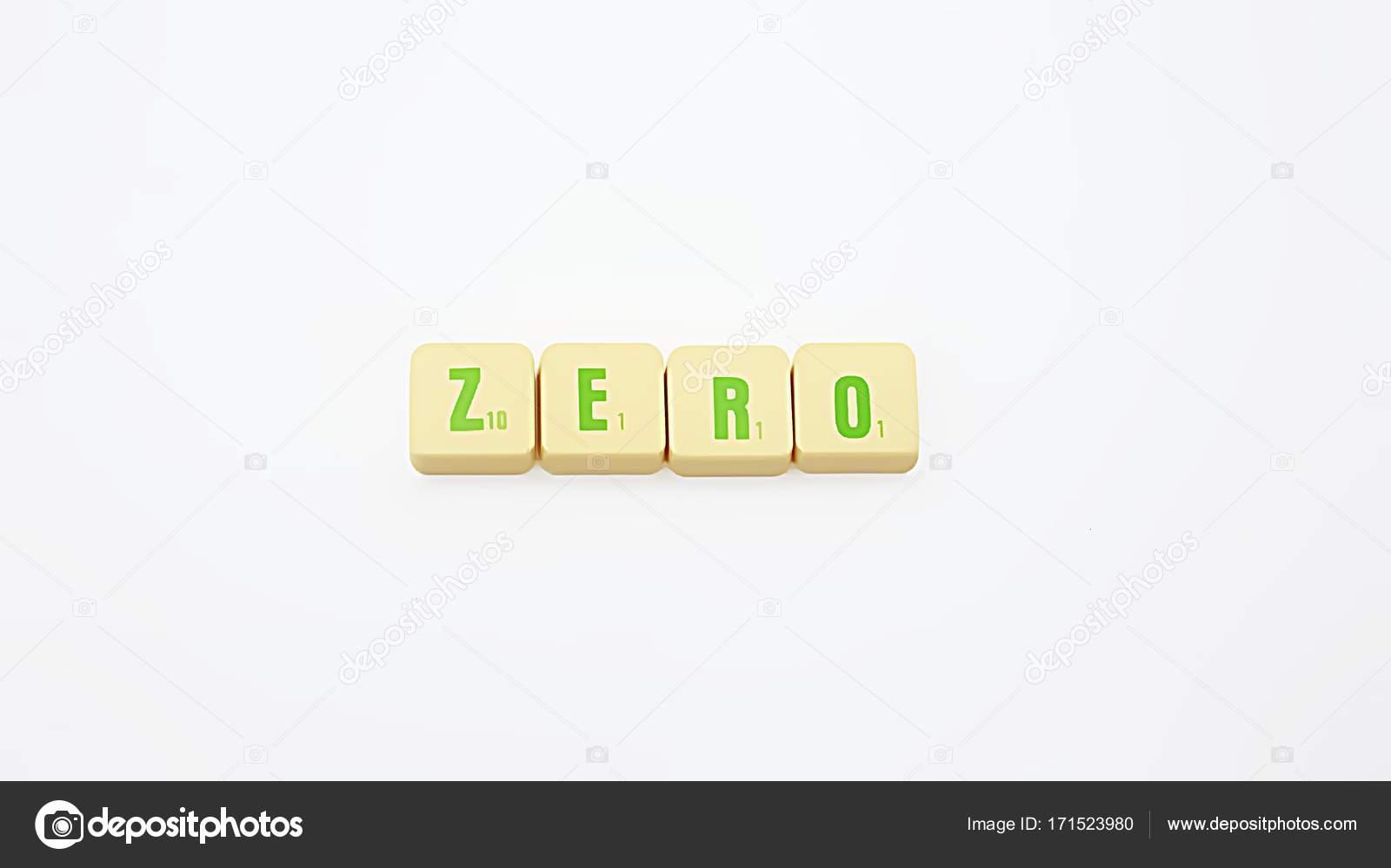 Lettera piastrelle parola zero u foto stock dtiberio