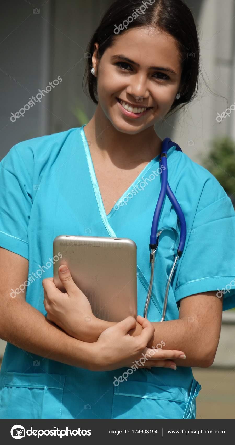 Young teen girl nurse brilliant