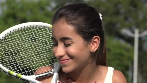 Happy nadějný Teen tenistka