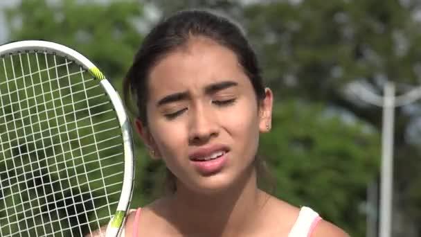 Zmatený Teen tenistka