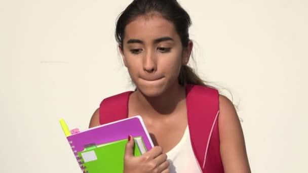 Zmatený hispánské ženy Teen Student