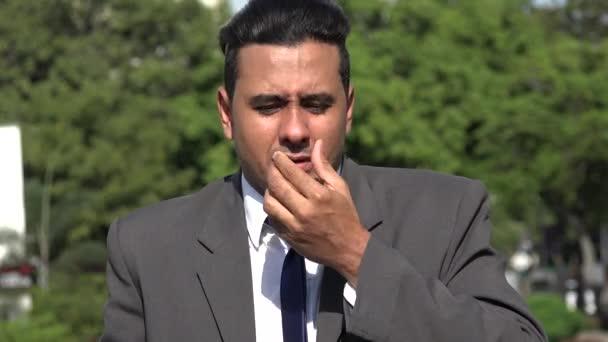 Člověk nemocný Hispanic Business a alergie