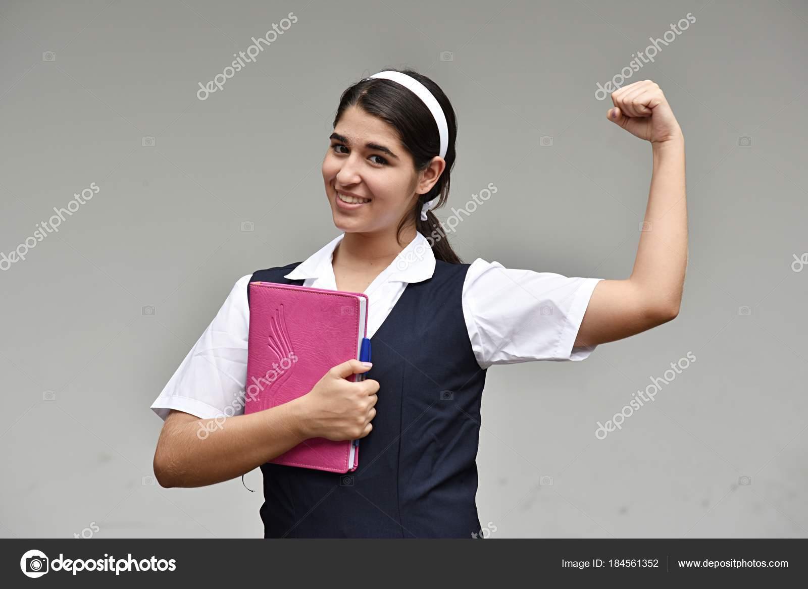 Biceps teen girl